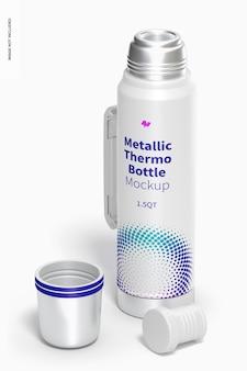 Mockup di bottiglia termica metallica