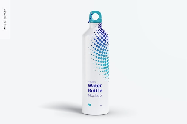 Bottiglia d'acqua metallica mockup