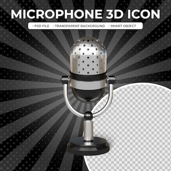 Icona di rendering 3d del microfono