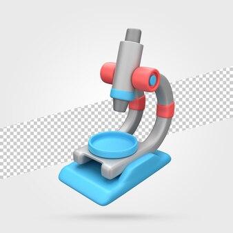 Microscopio 3d render