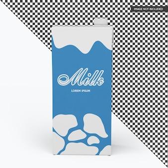 Mockup di pacchetto scatola di latte