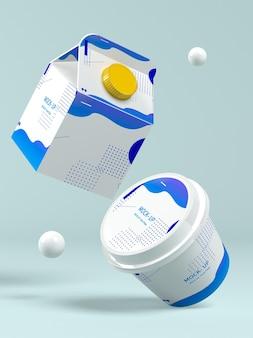 Modello di confezione del latte milk