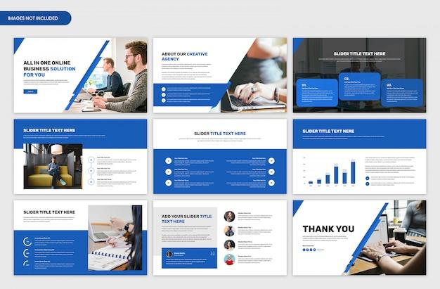 Design del modello di cursore di presentazione aziendale minimo