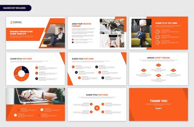 Modello di cursore di presentazione aziendale minima
