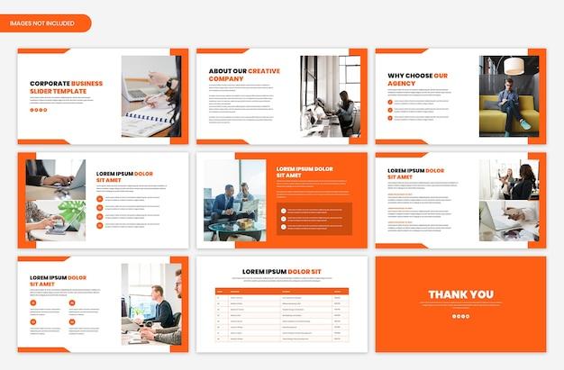 Modello di cursore di presentazione aziendale minimo