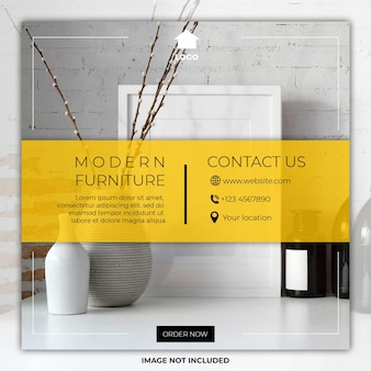Modelli di banner post di social media minimal mobili