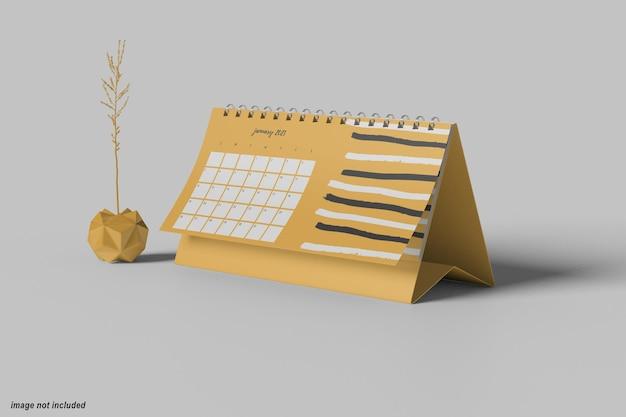 Mockup di calendario da tavolo orizzontale minimo