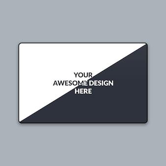 Mockup web minimale a doppio schermo orizzontale