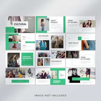 Modello di presentazione di diapositive minime