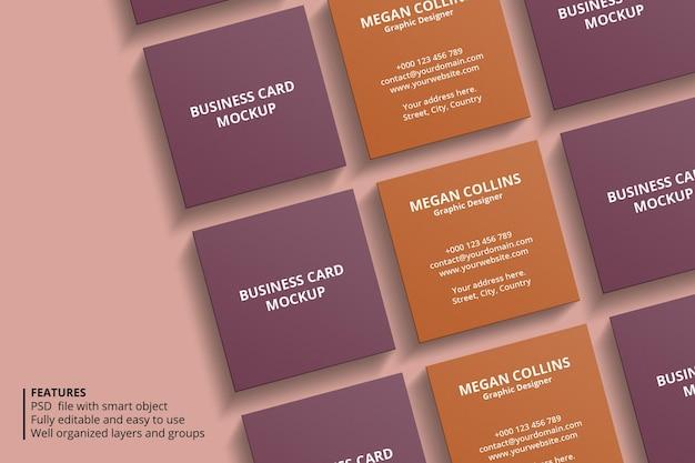 Design minimal mockup biglietto da visita quadrato