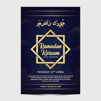 Modello minimalis ramadan kareem volantino