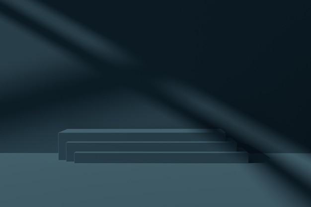 Sfondo minimalista del palco del podio 3d