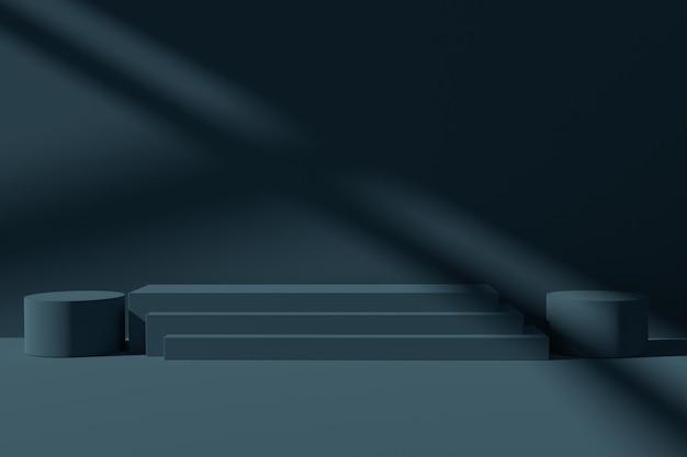 Fondo minimalista di scena del podio di rendering 3d