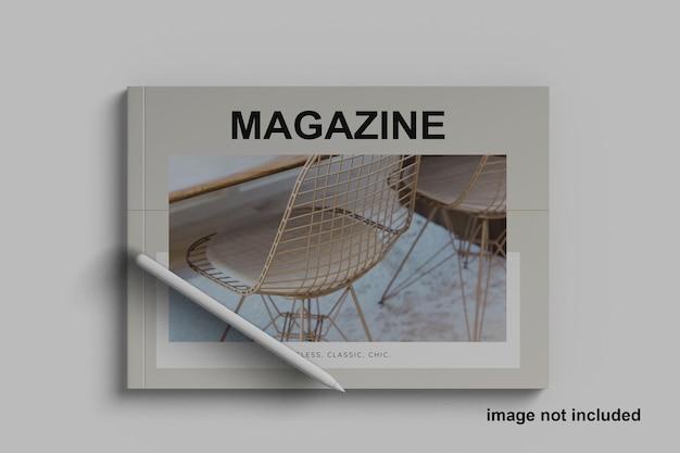 Mockup di rivista di paesaggi a5 minimalista