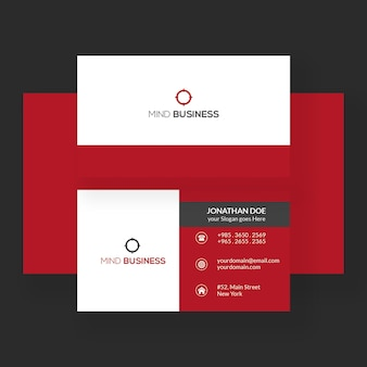 Modello di biglietto da visita minimalista con design moderno