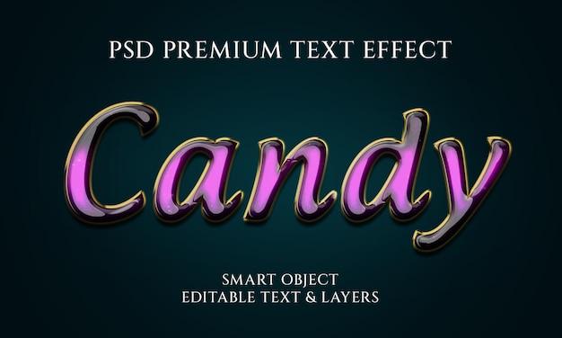 Design minimalista con effetto testo caramelle