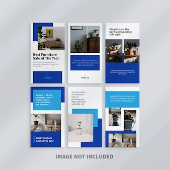 Design minimalista stories template design
