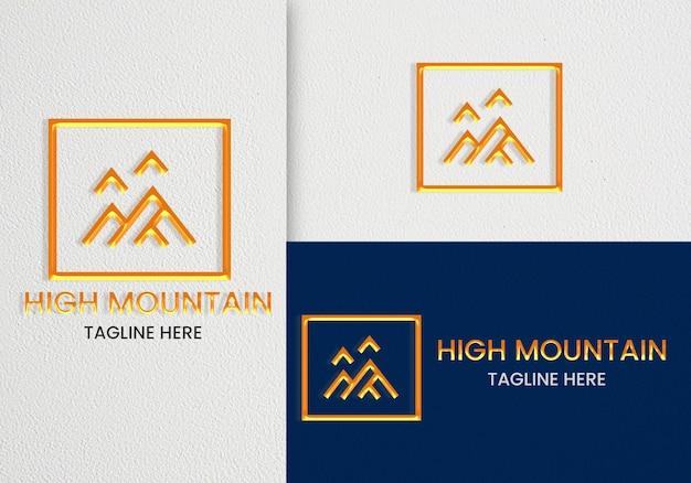 Mockup logo minimalista elegante con line art premium psd