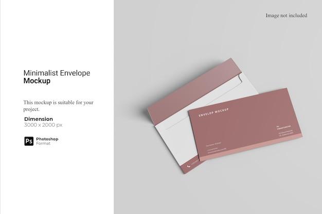 Design minimalista del mockup della busta