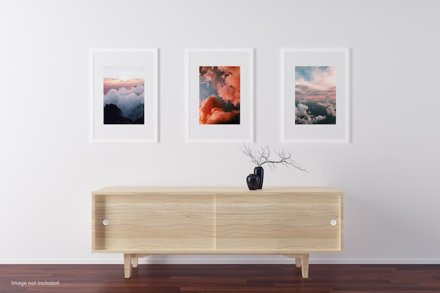 Design minimalista mockup telaio isolato