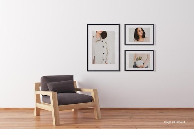 Mockup di cornice minimalista