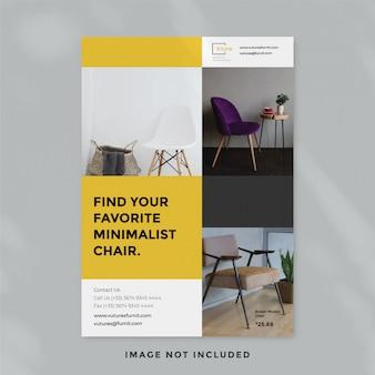 Modello di volantino di mobili minimalista