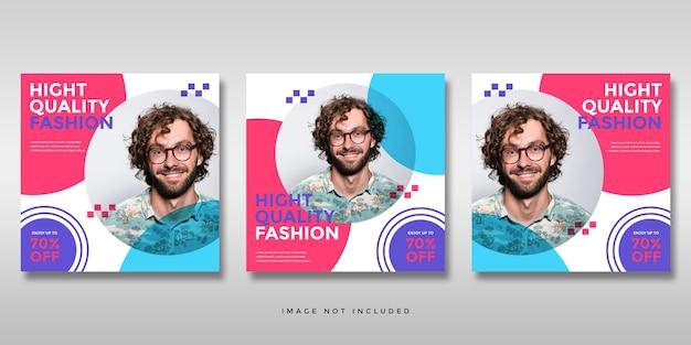 Modello minimalista instagram social media post feed banner