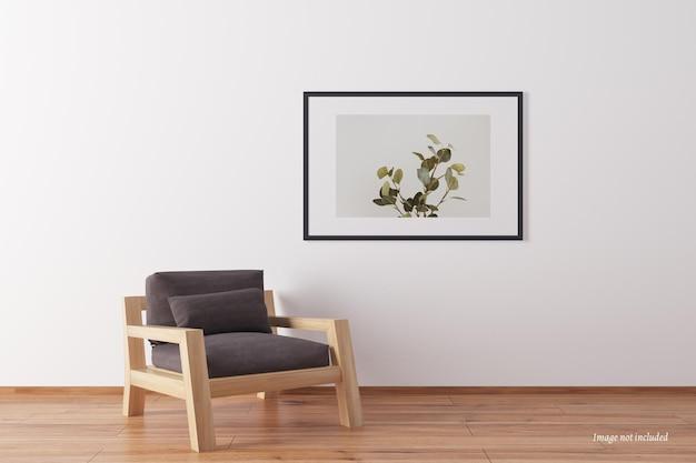 Mockup di cornice paesaggistica minimalista