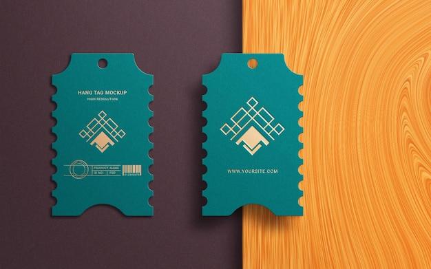 Design minimalista logo mockup su cartellino