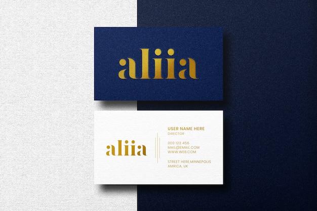 Modello di biglietto da visita di lusso minimalista