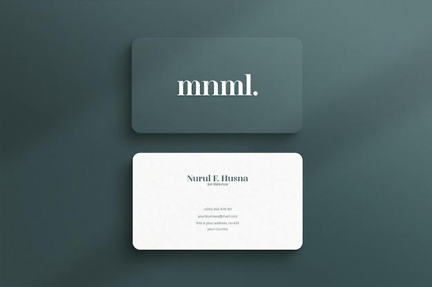 Modello di biglietto da visita minimalista e moderno di lusso o elegante