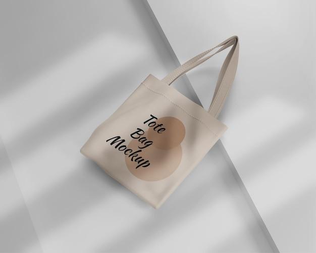 Mockup di borsa pastello minimalista
