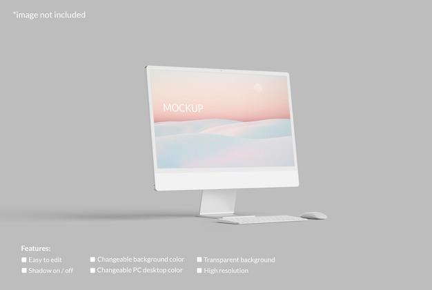 Mockup di schermo desktop pc minimalista