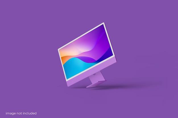 Mockup di schermo desktop per pc minimalista