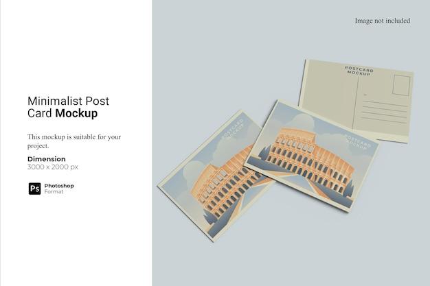 Design minimalista di mockup di cartolina postale