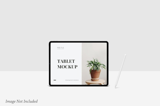 Mockup di schermo tablet minimalista psd premium