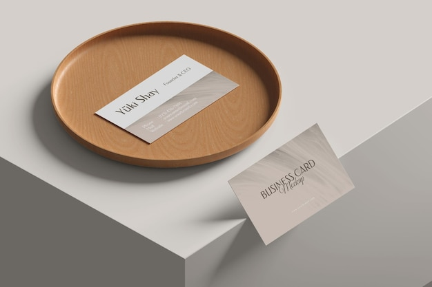 Mockup di biglietto da visita da visita minimalista Psd Premium