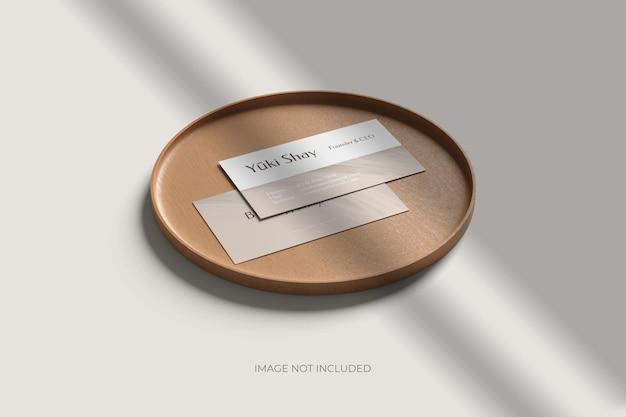 Mockup di biglietto da visita da visita minimalista