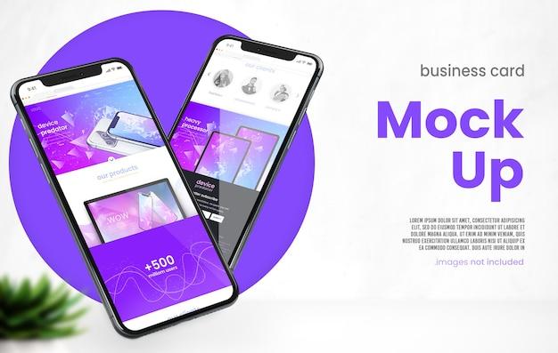 Mockup di telefono 3d minimalista