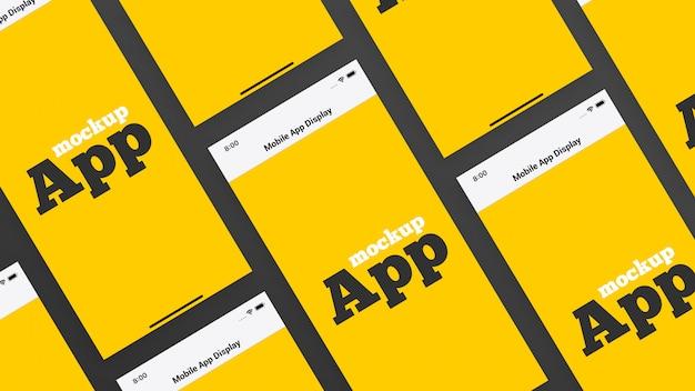 Mockup visualizzazione app mobile