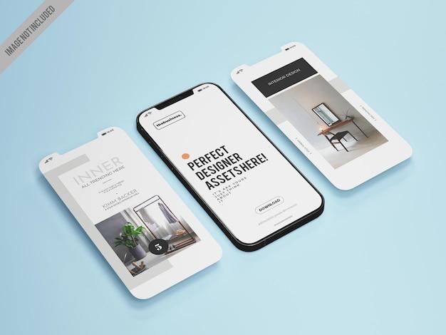 Mobile app mockup tempalte