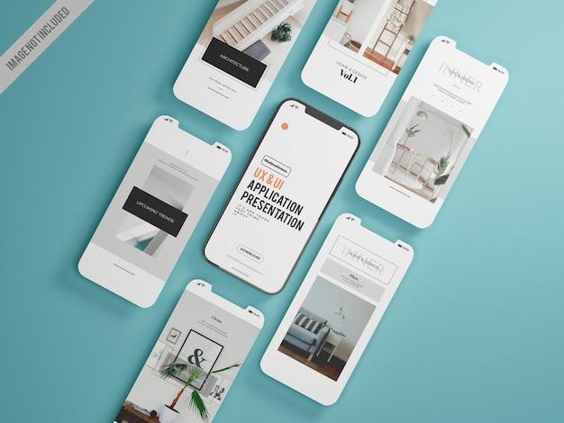 Modello di mockup di applicazione mobile