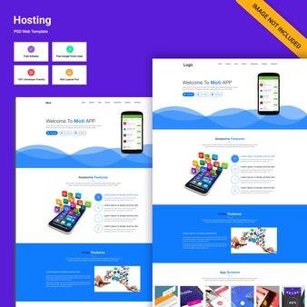 Interfaccia della pagina di destinazione del sito web delle app mobili