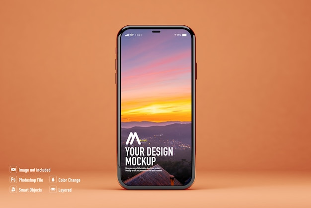 Mockup mobile isolato