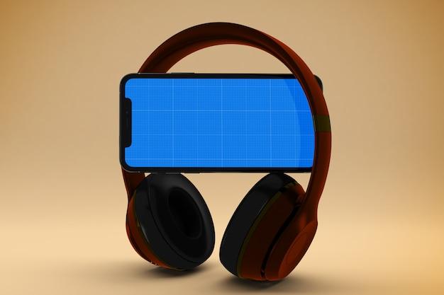 Mockup di musica mobile