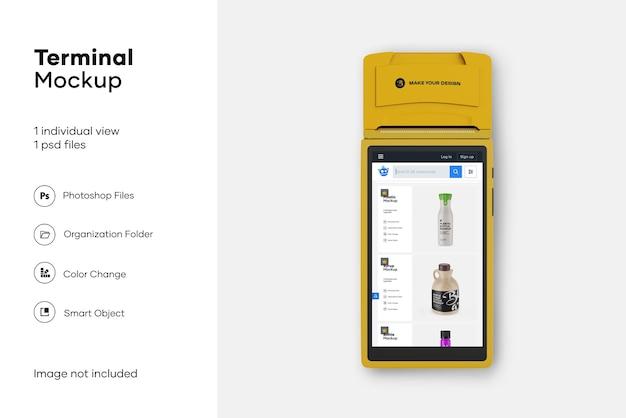 Mockup di terminale di pagamento mobile