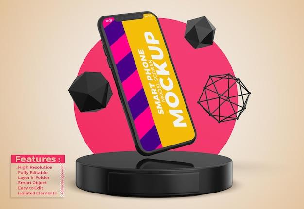 Mockup di telefono cellulare con design e colori modificabili