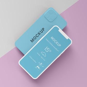 Mock-up dell'interfaccia utente del telefono cellulare