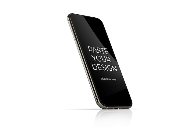 Telefono cellulare con mockup touch screen