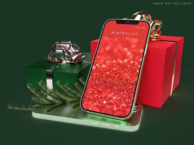 Mobile smartphone mockup per il business globale dell'identità del marchio